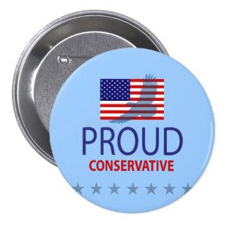 Proud Conservative Pinback Button