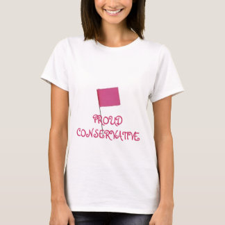 Proud Conservative-Pink T-Shirt