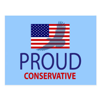 Proud Conservative Postcard