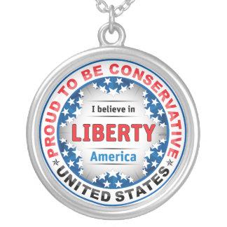 Proud Conservative Round Pendant Necklace