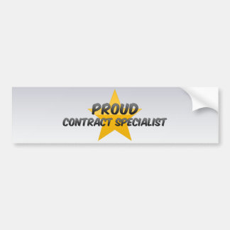 Proud Contract Specialist Bumper Stickers