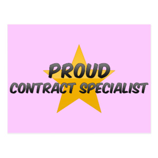 Proud Contract Specialist Post Card