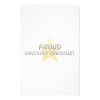 Proud Contract Specialist Stationery Paper