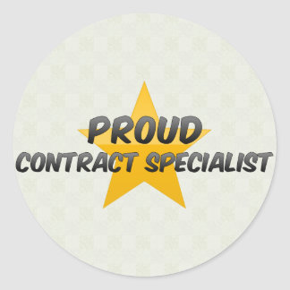 Proud Contract Specialist Round Stickers