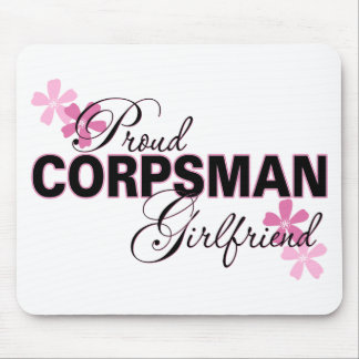 Proud Corpsman Girlfriend Mouse Pad