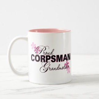 Proud Corpsman Grandmother Two-Tone Coffee Mug