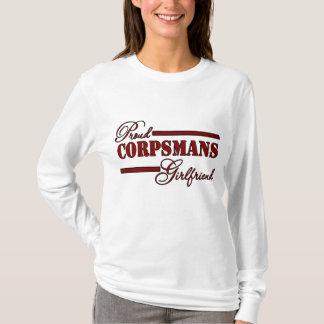 Proud Corpsmans Girlfriend (Red N Black) T-Shirt