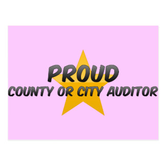 Proud County Or City Auditor Post Card
