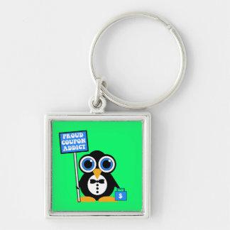 proud coupon addict keychains