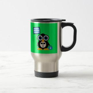 proud coupon addict travel mug