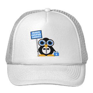 proud coupon addict trucker hat