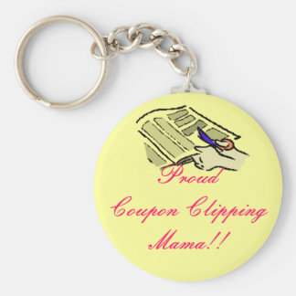 Proud Coupon Clipping Mama Keychains