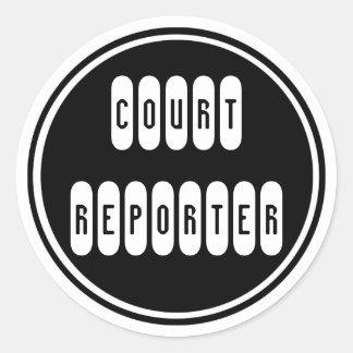Proud Court Reporter black white window stickers