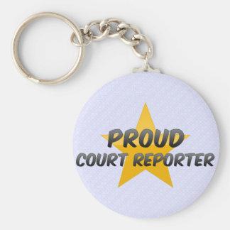 Proud Court Reporter Keychain