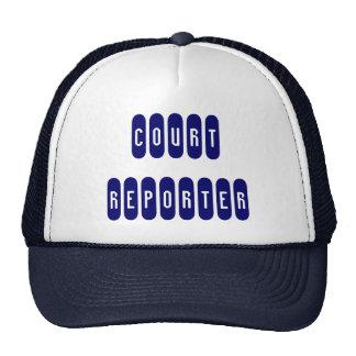 Proud court reporter navy blue white letter hat