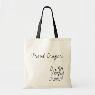 Proud Crafter I Budget Tote Bag