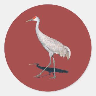 Proud Crane Classic Round Sticker
