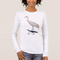 Proud Crane Long Sleeve T-Shirt