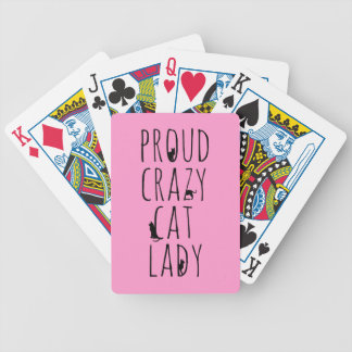 Proud Crazy Cat Lady Bicycle Playing Cards