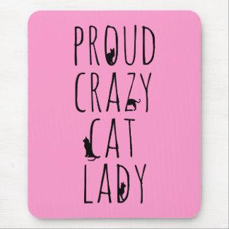 Proud Crazy Cat Lady Mouse Pad