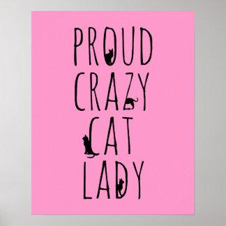 Proud Crazy Cat Lady Poster