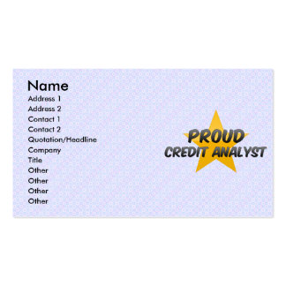 Proud Credit Analyst Business Card Templates