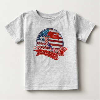 Proud Croatian American Baby T-Shirt