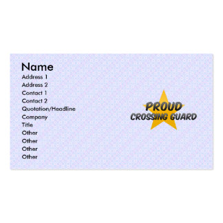 Proud Crossing Guard Business Card Templates
