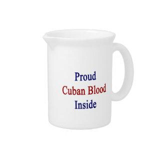 Proud Cuban Blood Inside Beverage Pitchers