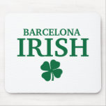 Proud Custom Barcelona Irish City T-Shirt Mouse Mats