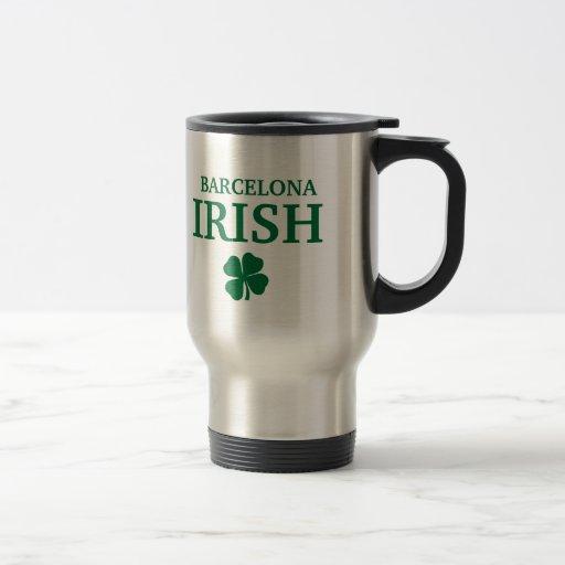 Proud Custom Barcelona Irish City T-Shirt Mugs