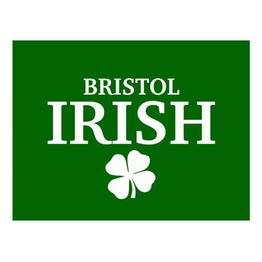 Proud Custom Bristol Irish City T-Shirt Postcard