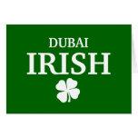 Proud Custom Dubai Irish City T-Shirt Greeting Cards