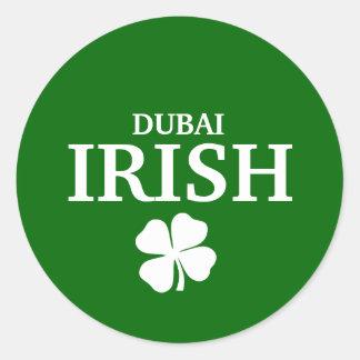 Proud Custom Dubai Irish City T-Shirt Classic Round Sticker