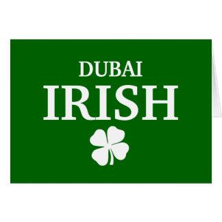 Proud Custom Dubai Irish City T-Shirt Greeting Card