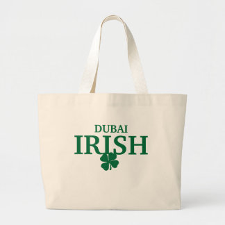 Proud Custom Dubai Irish City T-Shirt Large Tote Bag