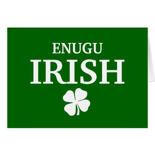 Proud Custom Enugu Irish City T-Shirt Greeting Card