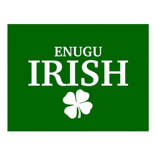 Proud Custom Enugu Irish City T-Shirt Postcard