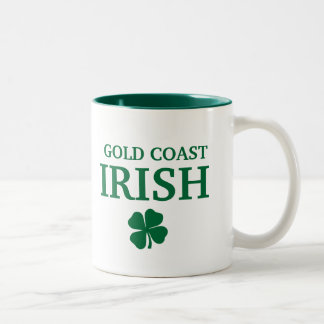 Proud Custom Gold Coast Irish City T-Shirt Two-Tone Coffee Mug