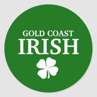 Proud Custom Gold Coast Irish City T-Shirt Round Stickers