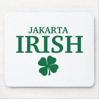 Proud Custom Jakarta Irish City T-Shirt Mouse Pad