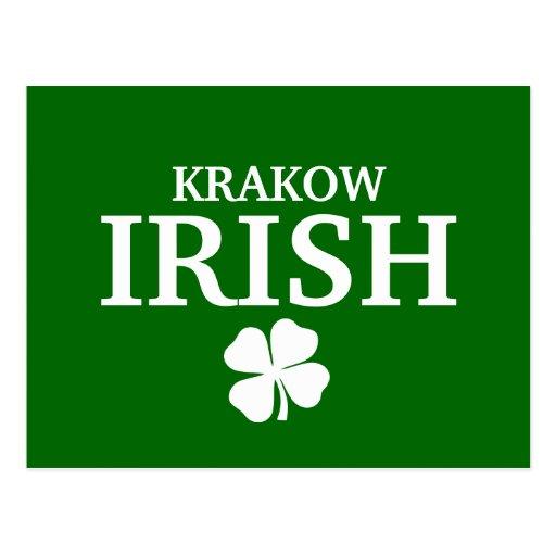 Proud Custom Krakow Irish City T-Shirt Postcard