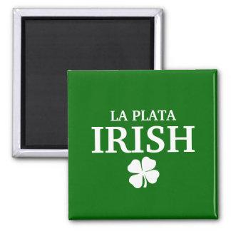 Proud Custom La Plata Irish City T-Shirt 2 Inch Square Magnet