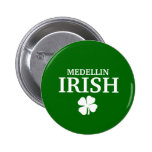 Proud Custom Medellin Irish City T-Shirt Pinback Buttons