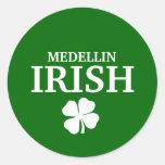 Proud Custom Medellin Irish City T-Shirt Round Stickers