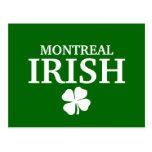 Proud Custom Montreal Irish City T-Shirt Post Card