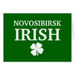 Proud Custom Novosibirsk Irish City T-Shirt Greeting Cards