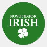 Proud Custom Novosibirsk Irish City T-Shirt Round Sticker