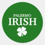 Proud Custom Palermo Irish City T-Shirt Round Stickers