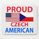 Proud Czech American Mouse Pads
